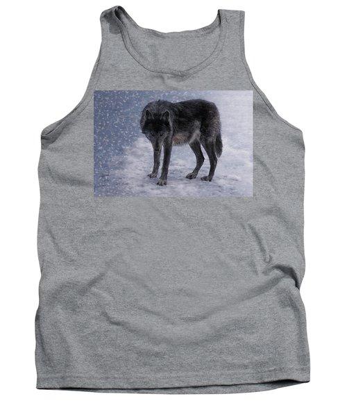 Black She-wolf Tank Top