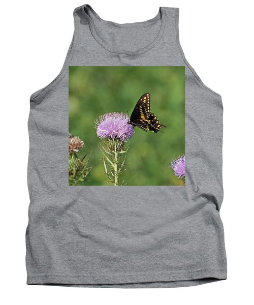 Tank Top featuring the photograph Black Swallowtail Butterfly by Sandy Keeton