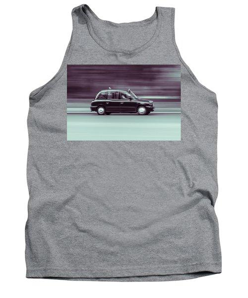 Black Taxi Bw Blur Tank Top