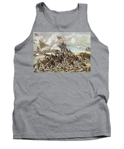 Black Troops Of The Fifty Fourth Massachusetts Regiment During The Assault Of Fort Wagner Tank Top