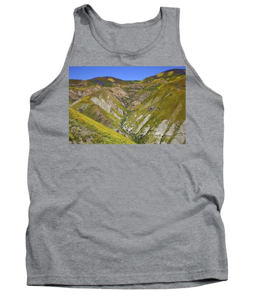 Blanket Of Wildflowers Cover The Temblor Range At Carrizo Plain National Monument Tank Top