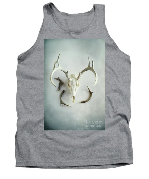 Bleached Stag Skull Tank Top