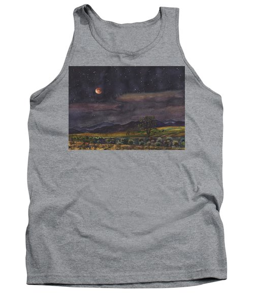 Tank Top featuring the painting Blood Moon Over Boulder by Anne Gifford