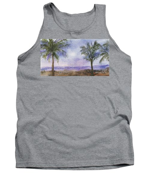 Tank Top featuring the painting Blowing By The Ocean by Vicki  Housel
