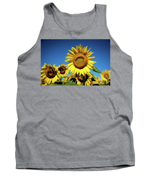Tank Top featuring the photograph Blue And Gold by Sandy Molinaro