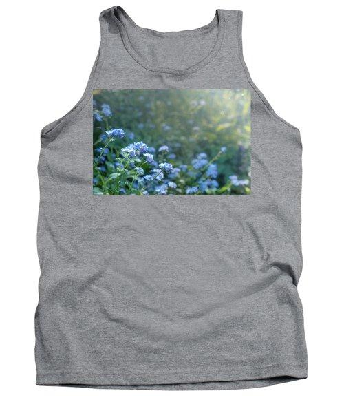 Blue Blooms Tank Top