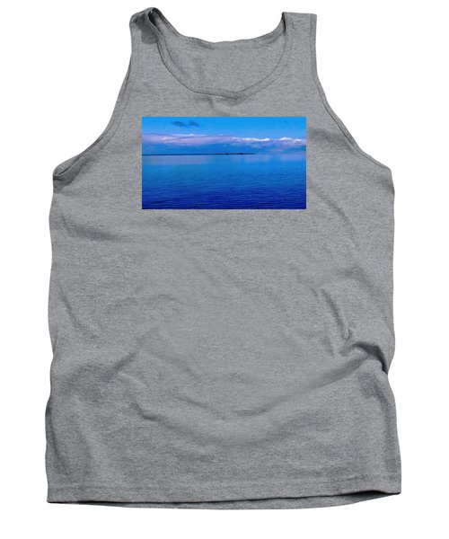 Tank Top featuring the photograph Blue Blue Sea by Vicky Tarcau