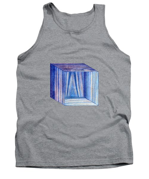 Blue Box Sitting Tank Top