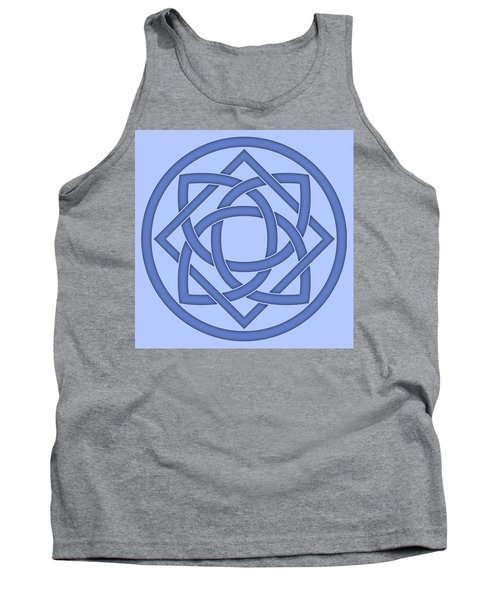 Tank Top featuring the digital art Blue Celtic Knot by Jane McIlroy