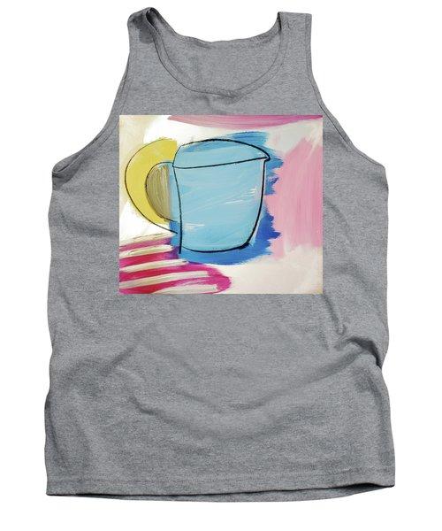 Blue Coffee Mug Tank Top by Amara Dacer