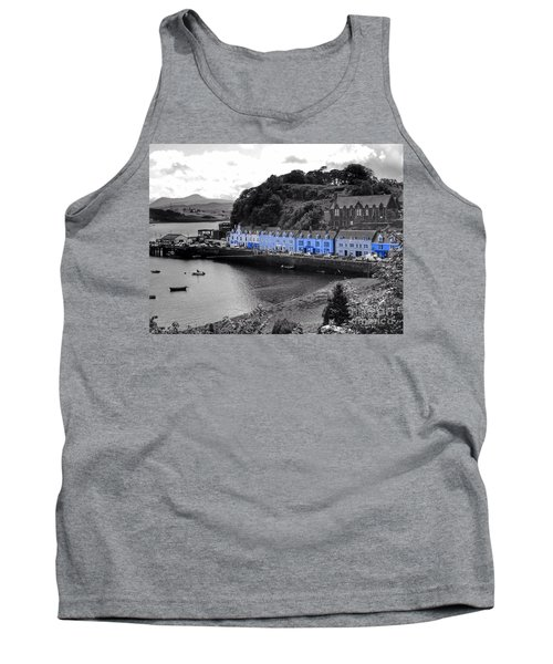 Blue Cottages At Portree Harbour 5 Tank Top