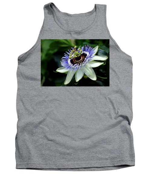 Blue Crown Passion Flower Tank Top
