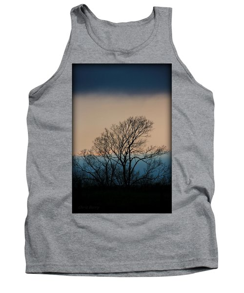 Tank Top featuring the photograph Blue Dusk by Chris Berry