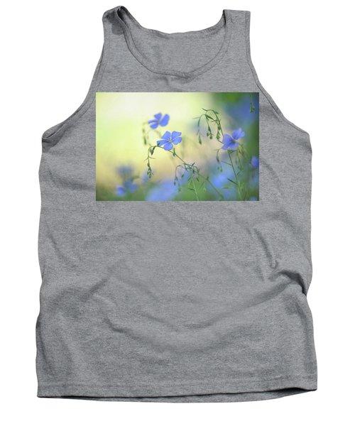 Blue Flex Flower Tank Top