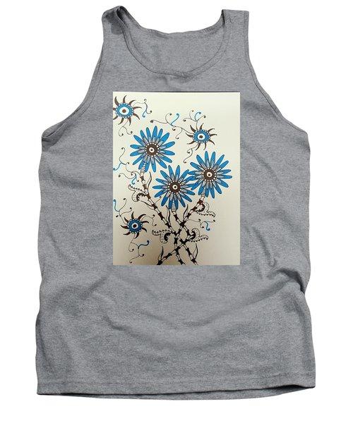 Blue Flowers 2 Tank Top
