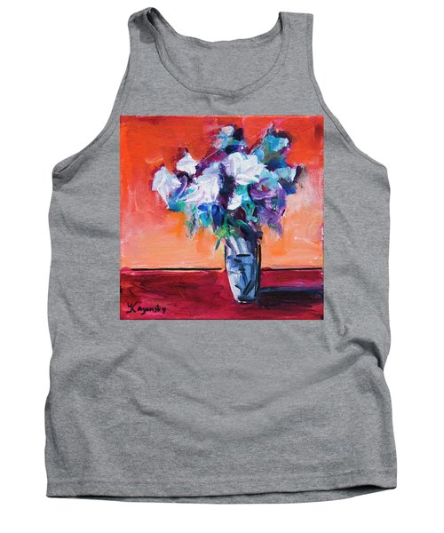 Blue Flowers In A Vase Tank Top