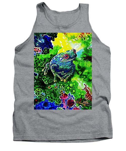 Blue  Frog Tank Top