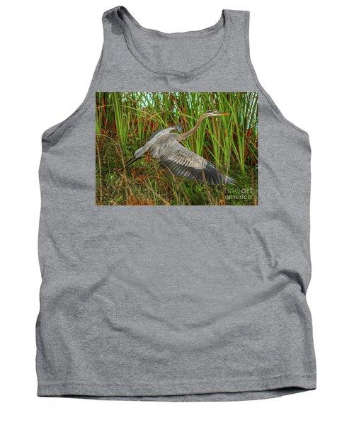 Blue Heron Take-off Tank Top