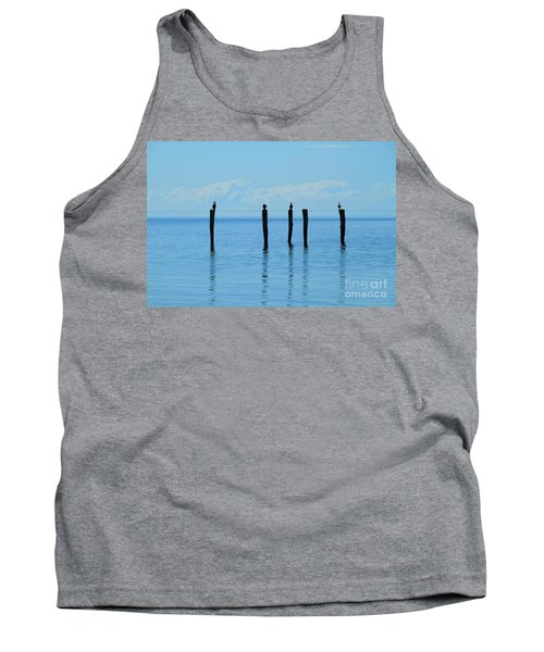 Tank Top featuring the photograph Blue Horizon by Stephen Mitchell