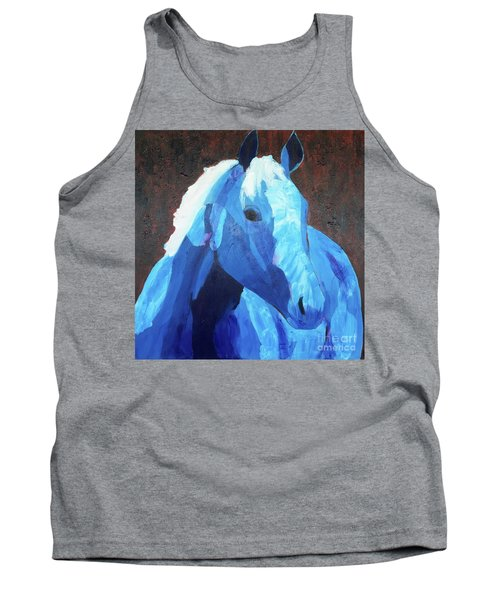 Blue Horse Tank Top