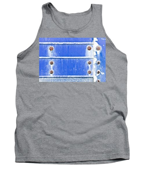 Blue Metal Background  Tank Top
