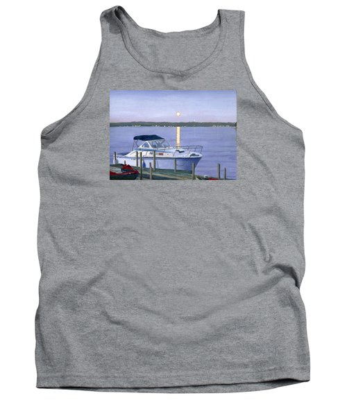 Tank Top featuring the painting Blue Moon by Lynne Reichhart