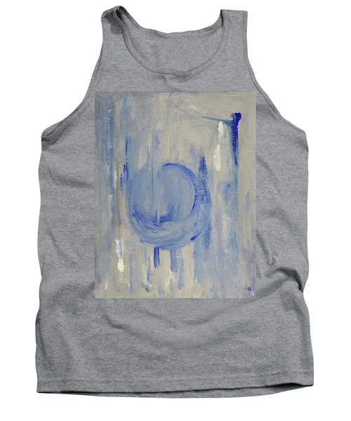 Tank Top featuring the painting Blue Moon by Victoria Lakes