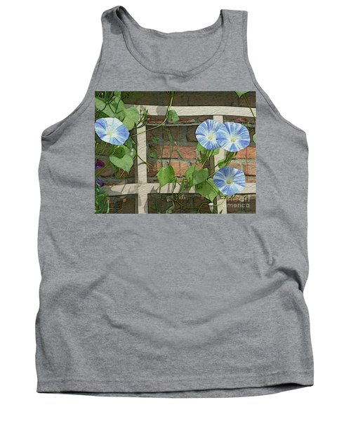 Blue Morning Glories Tank Top