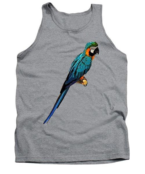 Blue Parrot Art Tank Top