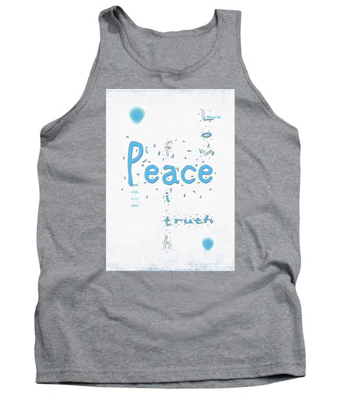 Tank Top featuring the digital art Blue Peace by Linda Prewer