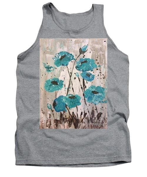 Blue Poppies Tank Top