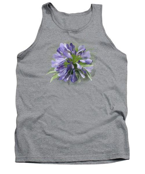 Blue Purple Flowers Tank Top