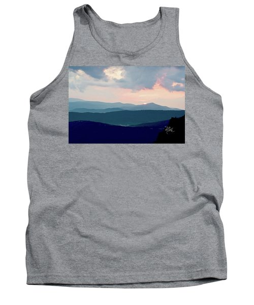 Blue Ridge Mountain Sunset Tank Top