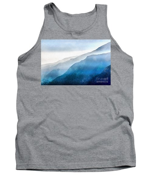 Tank Top featuring the painting Blue Ridge Mountians by Edward Fielding