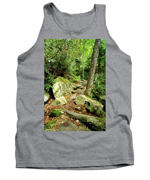 Tank Top featuring the photograph Blue Ridge Parkway Hiking Trail by Meta Gatschenberger