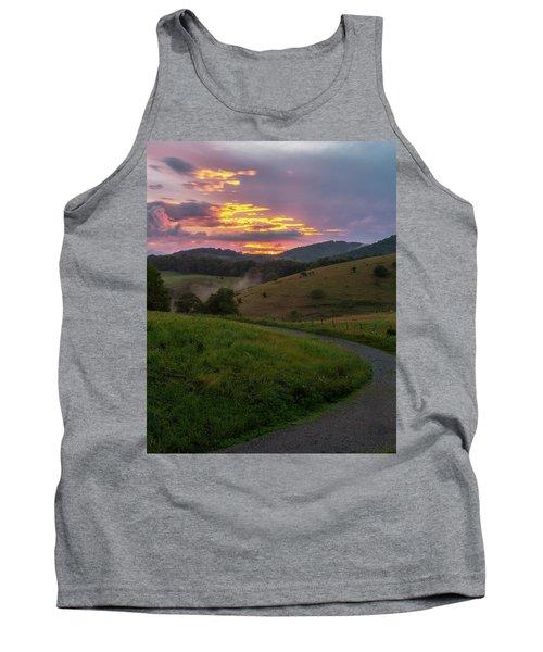 Blue Ridge Sunset Tank Top