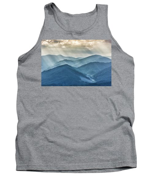 Blue Ridge Sunset Rays Tank Top
