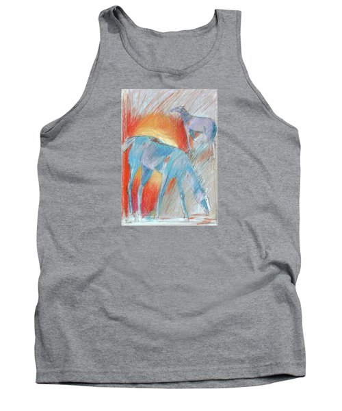 Blue Roans Tank Top by Mary Armstrong