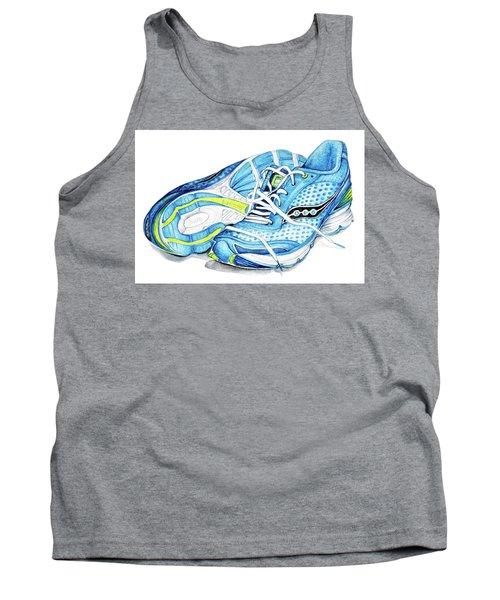 Blue Running Shoes Tank Top by Heidi Kriel