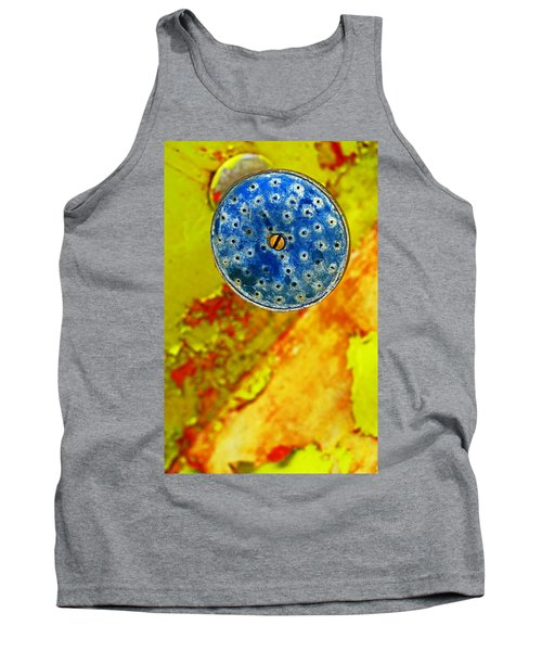 Tank Top featuring the photograph Blue Shower Head by Skip Hunt