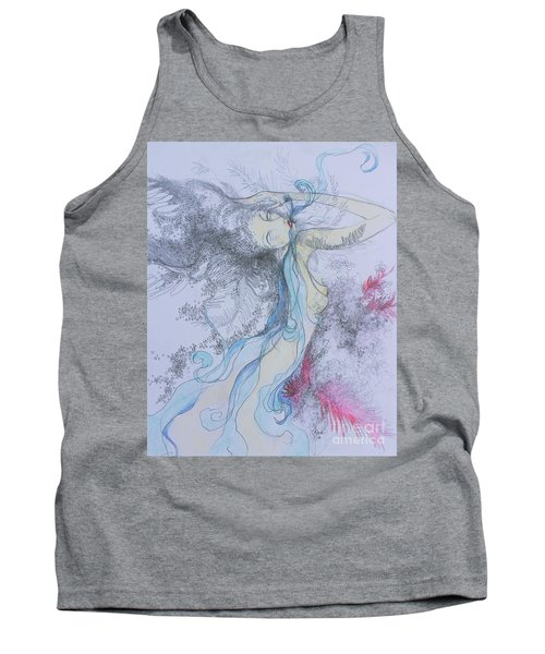 Blue Smoke And Mirrors Tank Top by Marat Essex