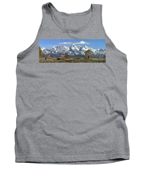 Blue Spring Skies Over Mormon Row Tank Top by Adam Jewell