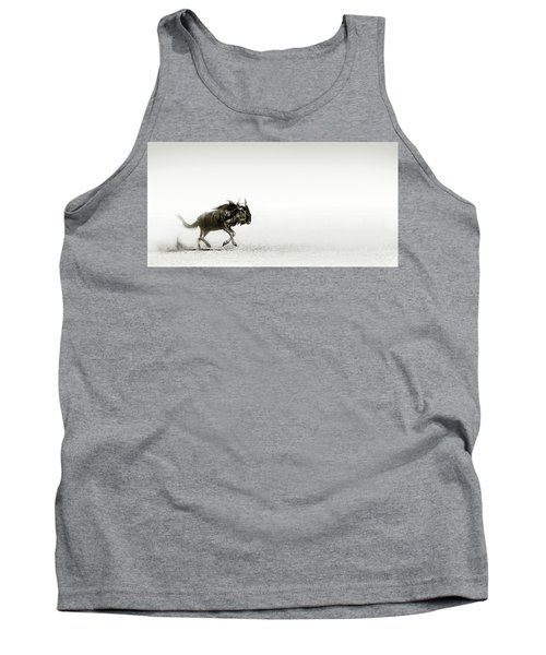 Blue Wildebeest In Desert Tank Top