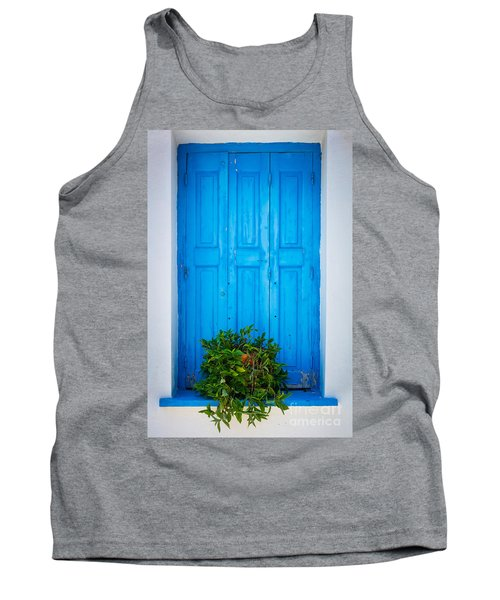 Blue Window Tank Top