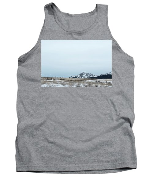 Blue Winter Tank Top
