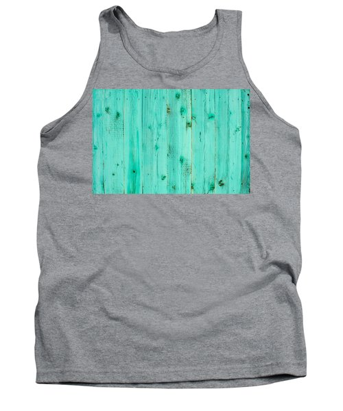 Tank Top featuring the photograph Blue Wooden Planks by John Williams