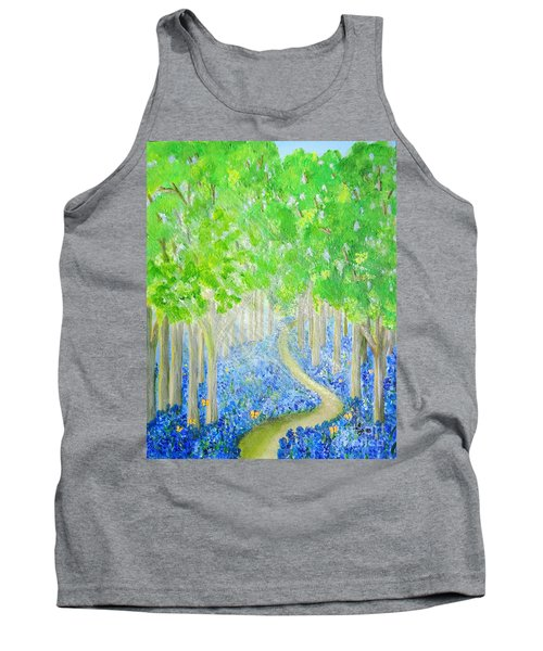 Bluebell Wood With Butterflies Tank Top