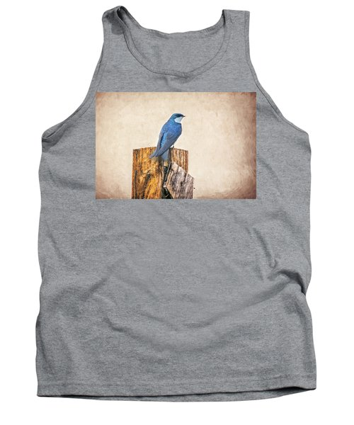 Tank Top featuring the photograph Bluebird Post by James BO Insogna