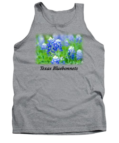 Bluebonnet With Font T-shirt Tank Top