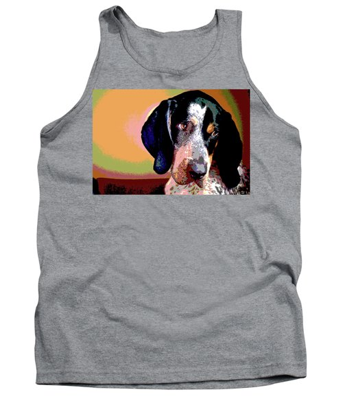 Bluetick Coonhound Tank Top by Charles Shoup